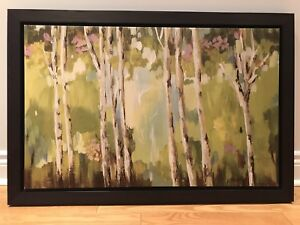 Wooden frames Birch Tree Forest Painting