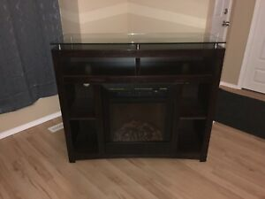 Tv Stand with fireplace.