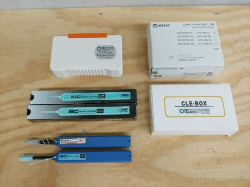 IBC LC Fiber Cleaner p/n 9393 PPC NT2 Clebox Cassette Box Cleaner Optipop Lot
