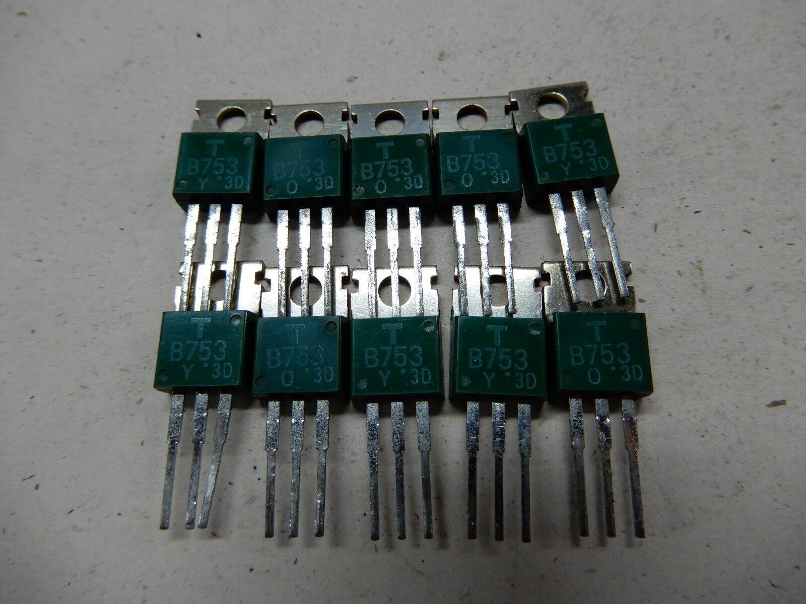 Toshiba Green B753 SB753 Transistor Lot of 10 NOS BGX