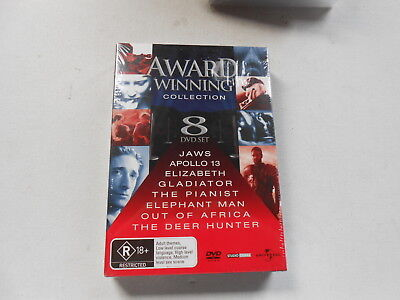 AWARD WINNING COLLECTION-8 DVD SET-NEW/SEALED-JAWS-DEER HUNTER-GLADIATOR-PIANIST for sale  Shipping to United States