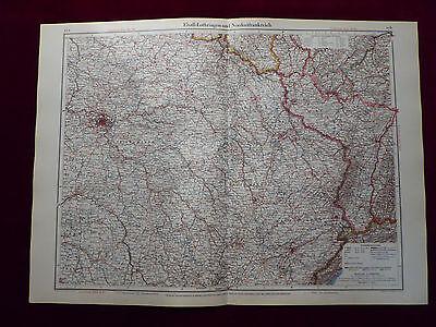 Landkarte Elsaß-Lothringen und Nordostfrankreich, Carl Wagner, von 1941