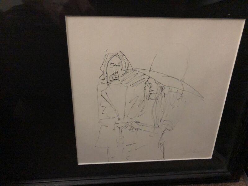 John Lennon drawing Framed Art