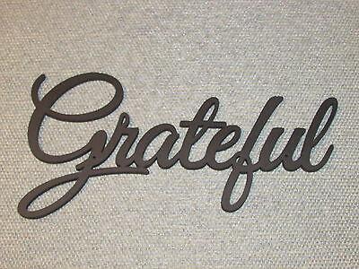 Grateful Wood Wall Word Art Decor