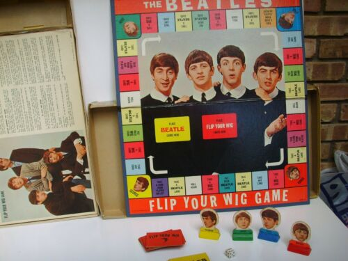 Vintage 1964 THE BEATLES FLIP YOUR WIG BOARD GAME MILTON BRADLEY 4404 COMPLETE