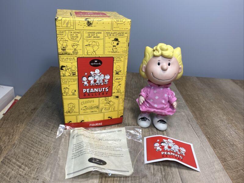 Hallmark Peanuts Gallery Charlie sister Sally Brown Figurine Porcelain Doll
