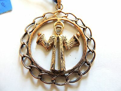 Vintage 1970's Classic Jesus Zodiac Pendant