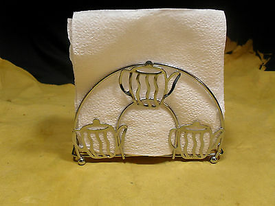 Brand New Metal Napkin Holder W/ Teapot Design