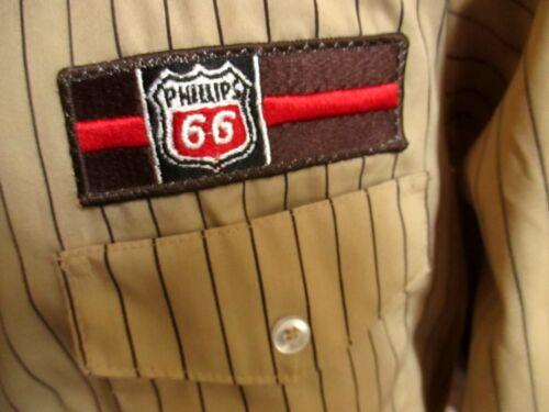 Rare Vtg NOS 70s 80s Phillips 66 Gas Station Uniform shirt UNITOG USA MEDIUM