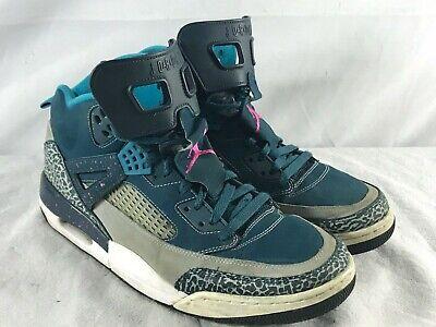 Nike Air Jordan Spizike Gray-Aqua Blue- 315371 407 Men's Size 13 - Aqua Blue Jordans