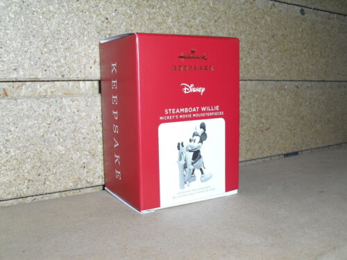 2021 Hallmark Ornament STEAMBOAT WILLIE 10th AND FINAL IN SERIES NIB!!!