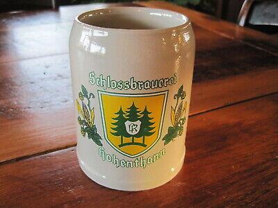 Schlossbrauerei Hohenthann Ceramic .5 Liter BEER STEIN German Germany