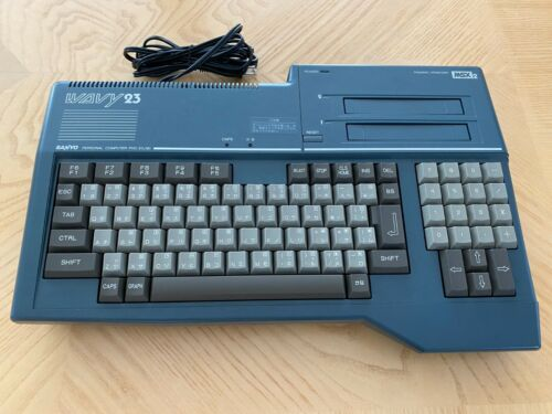 Sanyo MSX 2 Wavy 23 Boxed + Konami Hinotori - Excellent shape, tested working!
