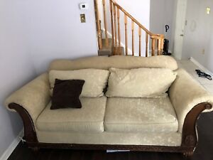 Xl three seater couch. Solid wood.