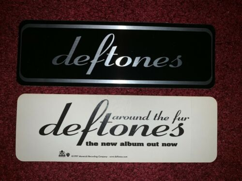 MINT Deftones VERY RARE Around The Fur metallic promo sticker from 1997