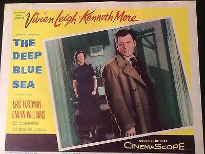 GENUINE VINTAGE 1955 VIVIENNE LEIGH KENETH MOORE 'THE DEEP BLUE SEA' LOBBY CARD