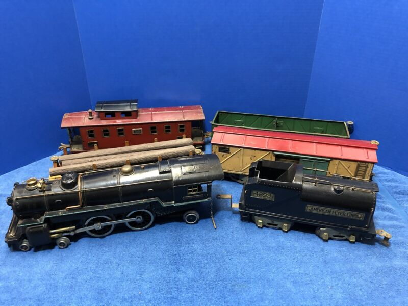AMERICAN FLYER 4692 Locomotive 4693 Tender+4 Cars STANDARD Wide Gauge TRAIN SET