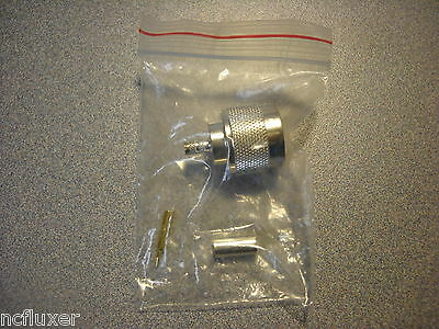 Rf Industries Rfn-1005-3c Type N Male Crimp Plug S G T For Cable Group C New