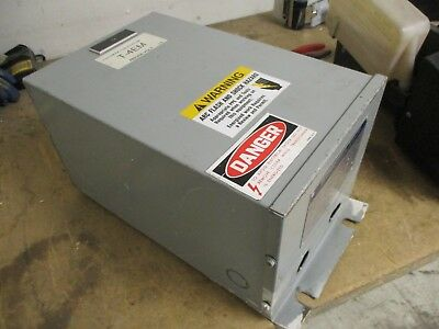 Sorgel Transformer 68541 P-2 9kva 1ph Pri 480v Sec 120240v 60hz Used