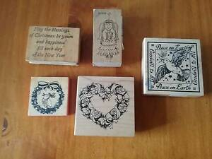 Set of rubber stamps for Christmas craft Ainslie North Canberra Preview