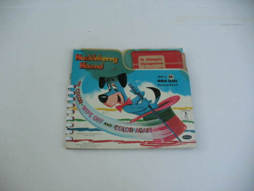 1959 Huckleberry Hound Coloring Book To Color Wipe Off & Color Again Magic Slate