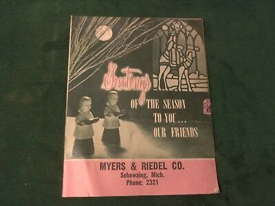 1949 Christmas Book Catalog- Myers & Reidel Co Sebewaing, Michigan~ File NQ - Myers Christmas Catalogue