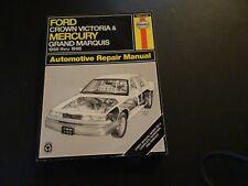 Haynes 36012 Repair Manual Ford Crown Victoria & Mercury ...