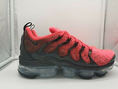 Nike Air VaporMax Plus UK 6.5 Black Flash Crimson CJ0642-001