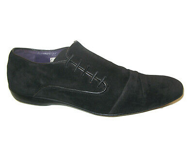 Black Suede Mens Leather Loafers Dress Shoe EUR 44 USA Sz 10.5 San Marina Paris  Black Suede Dress Shoe