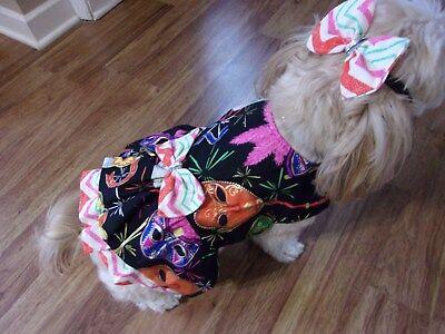 pet dog dress,Mardi Gras,Large for small-medium breeds,*(read size details)