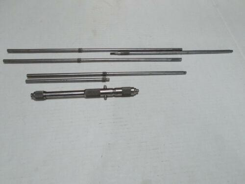 "Starrett large inside mic set 8""-32 "" incomplete inspection machinist micrometer"