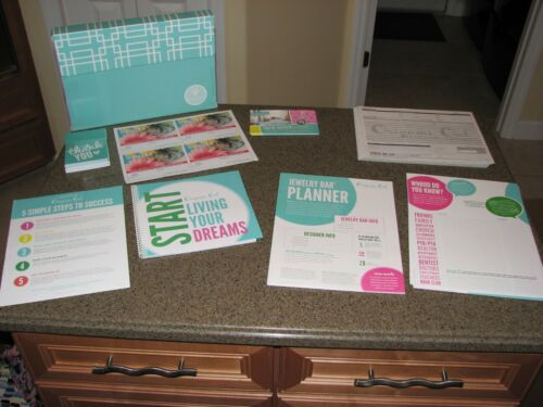 Origami Owl Welcome Kit Designer Folder Business Supplies~Postcards, Order Forms