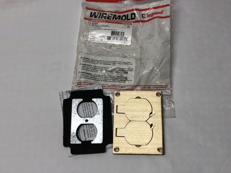 WIREMOLD Floor Box Brass Receptacle Cover Plate 828R