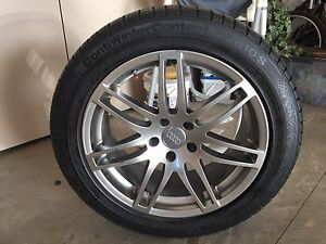 Audi rims and tires 5x112 bolt 255 45 18