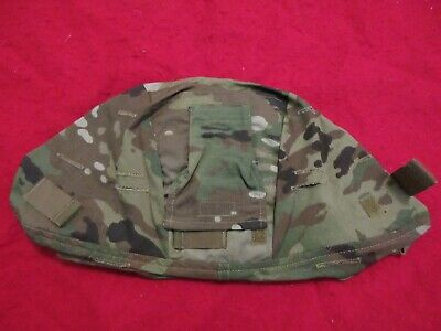 ACH MICH ARMY COMBAT HELMET COVER MULTICAM LARGE EXTRA LG COMM FLAP NO IR TABS