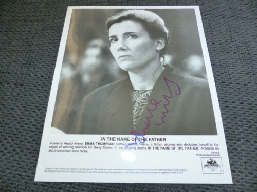 "EMMA THOMPSON signed Autogramm auf ""IN THE NAME OF THE FATHER"" Bild InPerson"