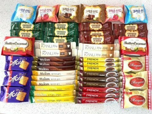 Korean Instant coffee mix with Cookie, Variety Pack(Maxim&French Cafe)