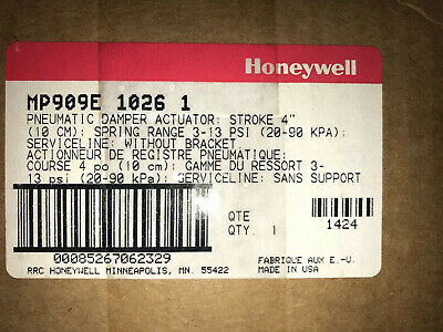 Honeywell Mp909e1026 Pneumatic Damper Actuator Stroke 410 Cm 3-13 Psi