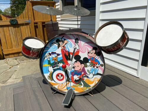Vintage 60's Mickey Mouse Club Drum Set Rare Walt Disney Children