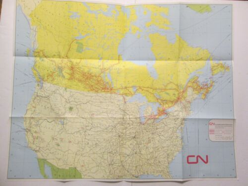 Canadian National Railway System Map 1974