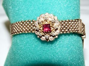 Antique Victorian Slide Bracelet with Stone