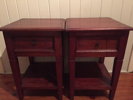 Timber bedside tables Taringa Brisbane South West Preview