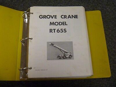 Grove Model Rt65s Rough Terrain Mobile Crane Shop Service Repair Manual