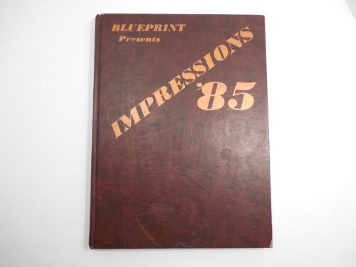 "Yearbook, Benson High School, Portland Oregon, 1985, ""Blueprint"""