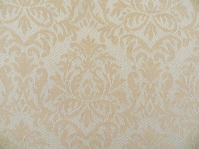 Jacquard Fabric Shade (Woven jacquard medallion decorator fabric in soft shades of peach and linen )