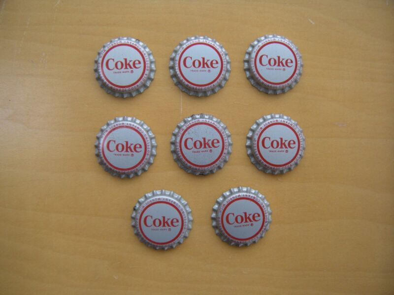Coca Cola bottle caps (8)