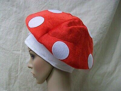 Red White Mushroom Hat Super Mario Toad Wonka Magic Wonderland Toadstool