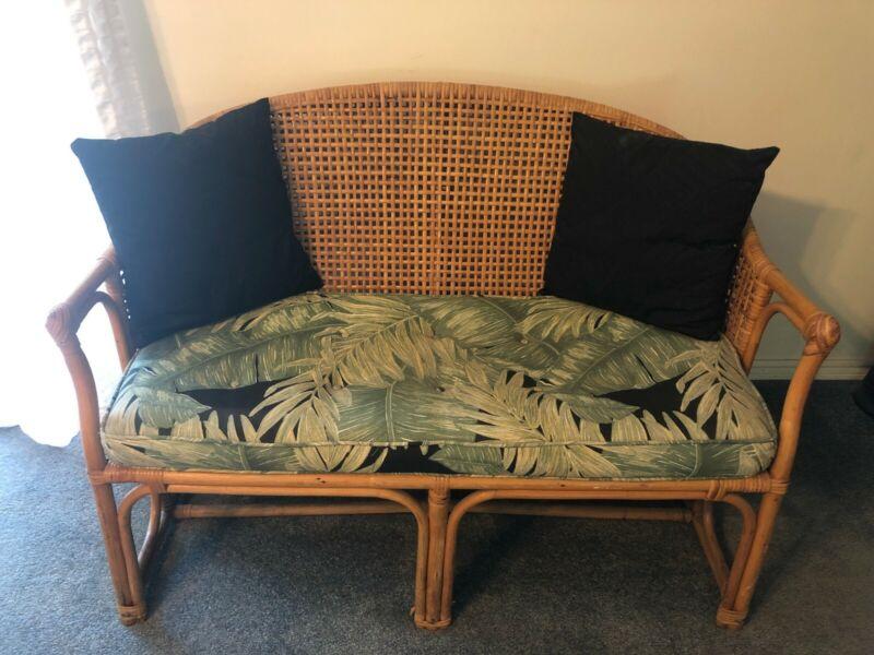Vintage Wicker/Rattan Love Seat In original Condition