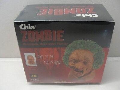 NEW CHIA PET ZOMBIE HANDMADE DECORATIVE PLANTER CREEPY HOLDEN HALLOWEEN - Chia Pet Halloween