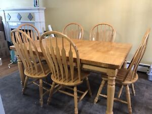Solid Wood Dining Table 9 piece